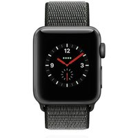 Apple WATCH Series 3 GPS+Cellular 38mm spacegraues Aluminiumgehäuse mit Sport Loop Olivgrün