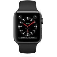 Apple WATCH Series 3 GPS+Cellular 38mm spacegraues Aluminiumgehäuse mit schwarzem Sportarmband