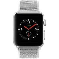 Apple WATCH Series 3 GPS+Cellular 38mm silbernes Aluminiumgehäuse mit seashell Sport Loop