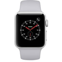 Apple WATCH Series 3 GPS+Cellular 38mm silbernes Aluminiumgehäuse mit nebelgrauem Sportarmband