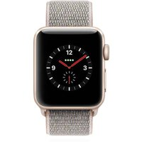 Apple WATCH Series 3 GPS + Cellular 38mm goldenes Aluminiumgehäuse mit Sport Loop pink sand