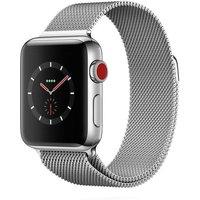 Apple WATCH Series 3 GPS+Cellular 38mm silbernes Edelstahlgehäuse mit Milanaise-Armband silber