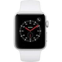 Apple WATCH Series 3 GPS+Cellular 42mm silbernes Aluminiumgehäuse mit weißem Sportarmband