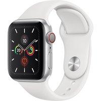 Apple WATCH Series 5 40mm Cellular Aluminiumgehäuse silber Sportarmband weiß