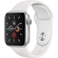 Apple WATCH Series 5 40mm GPS Aluminiumgehäuse silber Sportarmband weiß