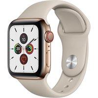 Apple WATCH Series 5 40mm Cellular Edelstahlgehäuse gold Sportarmband stein