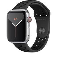 Apple WATCH Nike Series 5 44mm Cellular Aluminiumgehäuse silber Sportarmband Anthrazit Schwarz