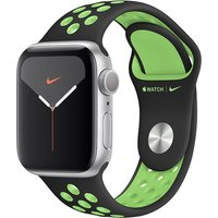 Apple WATCH Nike Series 5 40mm GPS Aluminiumgehäuse silber Sportarmband Schwarz/Lime Blast