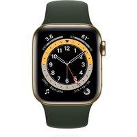 Apple WATCH Series 6 40mm Cellular Edelstahlgehäuse Gold Sportarmband Grün