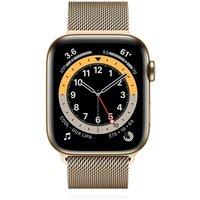 Apple WATCH Series 6 40mm Cellular Edelstahlgehäuse Gold Milanaise Gold