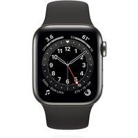 Apple WATCH Series 6 40mm Cellular Edelstahlgehäuse Graphit Sportarmband Schwarz
