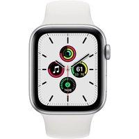 Apple WATCH SE 44mm GPS Aluminiumgehäuse Silber Sportarmband Weiß