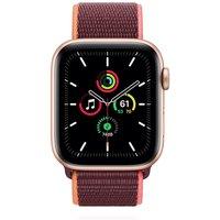 Apple WATCH SE 44mm Cellular Aluminiumgehäuse Gold Sportarmband Loop Pflaume