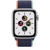 Apple WATCH SE 44mm Cellular Aluminiumgehäuse Silber Sportarmband Loop Dunkelmarine