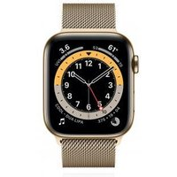 Apple WATCH Series 6 44mm Cellular Edelstahlgehäuse Gold Milanaise Gold