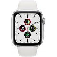 Apple WATCH SE 40mm GPS Aluminiumgehäuse Silber Sportarmband Weiß
