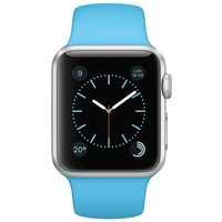 Apple WATCH Sport 1. Generation 38mm silbernes Aluminiumgehäuse blaues Sportarmband