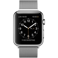 Apple WATCH 1. Generation 42mm silbernes Edelstahlgehäuse mit silbernem Milanaisearmband