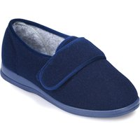 Cosyfeet Holly Single Slipper Navy - Right Foot