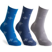 Cosyfeet Women's Cotton-rich Snowflake Socks