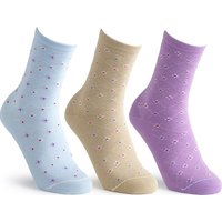 Cosyfeet Extra Roomy Womens Cotton-rich Patterned Socks