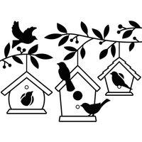"4.25"" x 5.75"" Embossing Folder - Birdhouses in Tree"