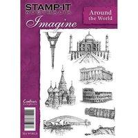 Around the World - Stamp-It Imagine Unmounted Rubber Stamp
