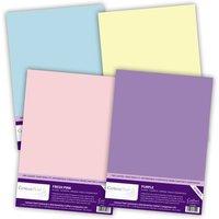 Centura Pearl A4 (10 sheet packs) 1 each Fresh Blue, Fresh Pink, Purple and Ivory
