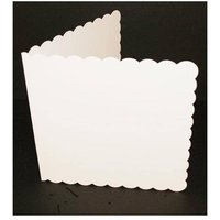 8x8 White Scalloped Card and Envelopes - pack of 25