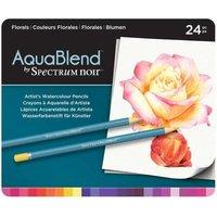 AquaBlend by Spectrum Noir 24 Pencil Set - Florals