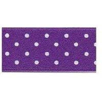 Berisfords Micro Dot Ribbon PURPLE