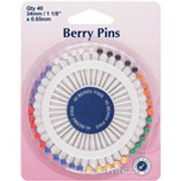 Berry Pins: Nickel - 34mm, 40pcs