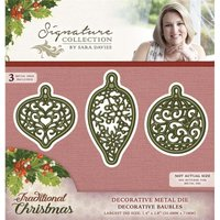 Sara Signature Traditional Christmas Collection - Decorative Baubles