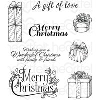 Celebrate the Season - Gift Wrapped Presents Cling Stamp