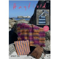 Sirdar Hayfield Spirit DK Downloadable Knitting Pattern - Throw, Cushion Cover and Bag