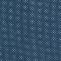 110cm wide Cotton Print Blue with Ivory Spot Fabric