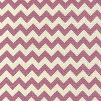 110cm wide Linen Look Cotton Pink Chevron Fabric