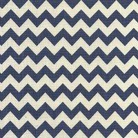 110cm wide Linen Look Cotton Navy Chevron Fabric