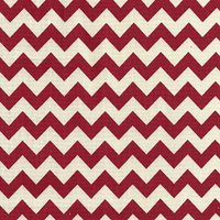 110cm wide Linen Look Cotton Red Chevron Fabric