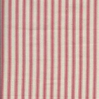 137cm wide Cotton Yarn Dyed Ticking Stripe Pink Fabric