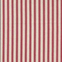 137cm Cotton Yarn Dyed Ticking Stripe Red Fabric