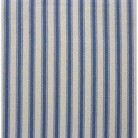 137cm Cotton Yarn Dyed Ticking Stripe Blue Fabric
