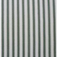 137cm wide Cotton Yarn Dyed Ticking Stripe Green Fabric