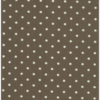 110cm wide Linen Look Cotton White Spot on Brown Fabric