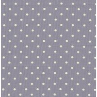 110cm wide Linen Look Cotton White Spot on Purple Fabric