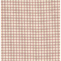 110cm wide Linen Look Cotton Pink Check Fabric