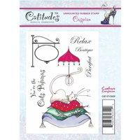 Catitudes A6 Rubber Stamp - Caspian
