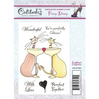 Catitudes A6 Rubber Stamp - Fizzy Dizzy