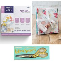 Build-a-Block Patchwork System with Fabric Scissors and Sew Lovely Fat Quarter Bundle