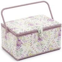 Groves Premium Novelty Collection Extra Large Sewing Box - Buttermere Hollyhock